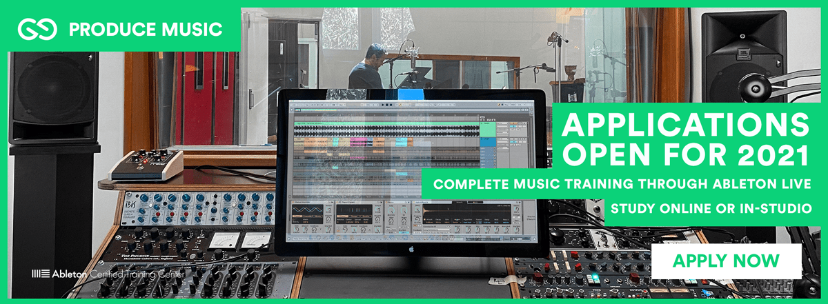2021 Intake Now Open for Applications | Produce Music with Ableton Live